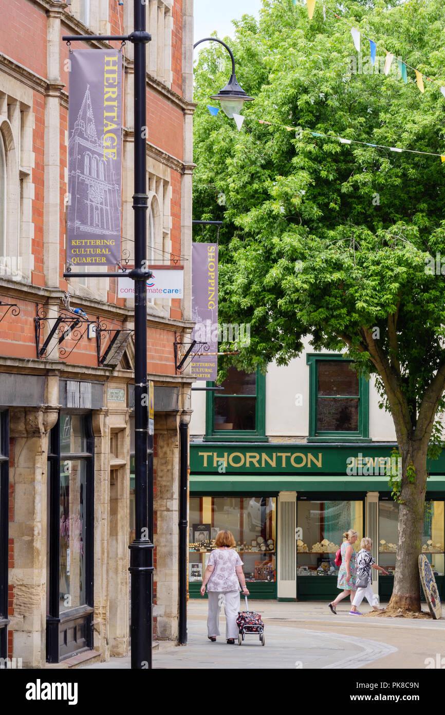 Kettering Northamptonshire East Midlands England - Stock Image