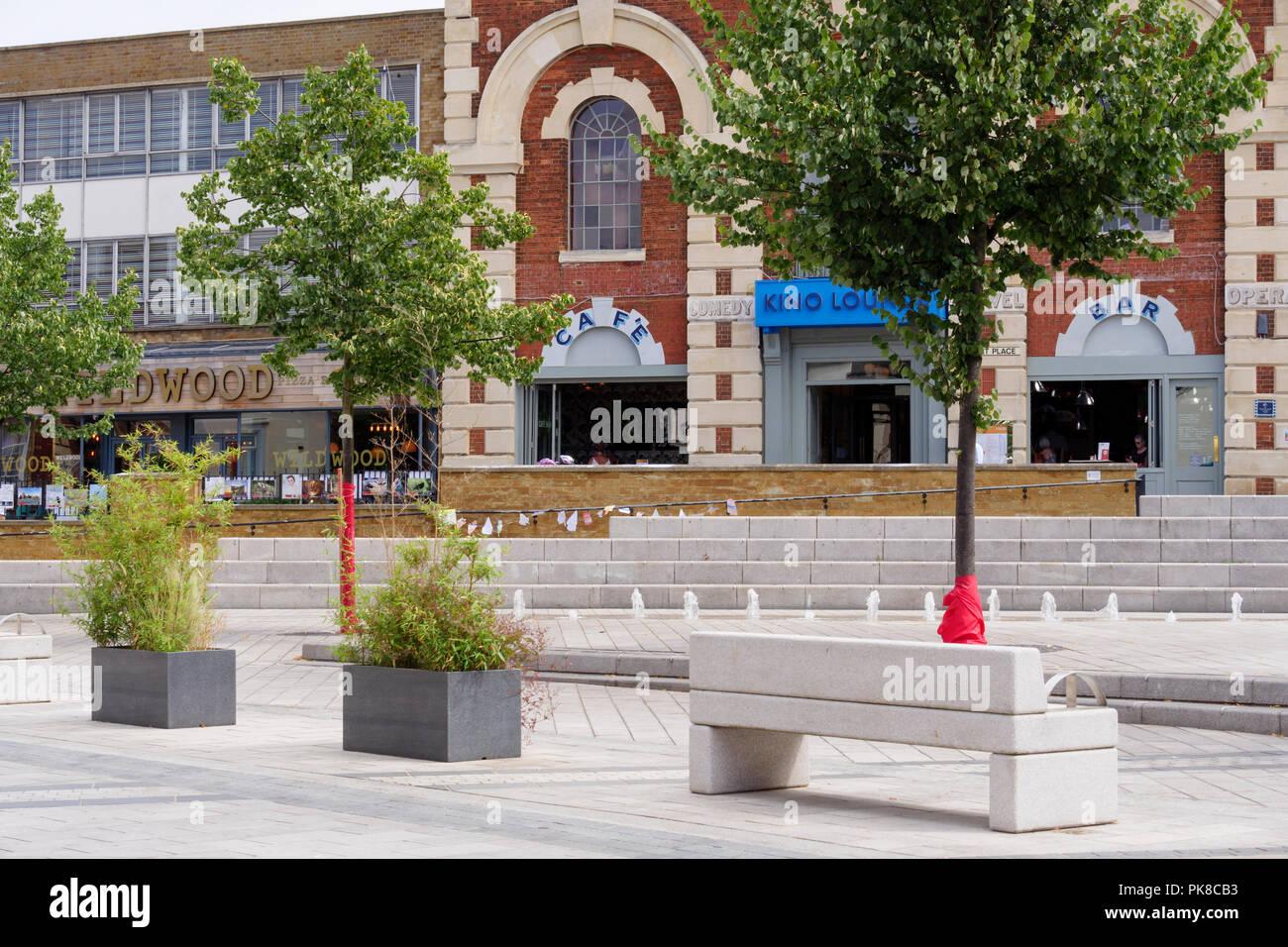 Corn Exchange Market Place Kettering Northamptonshire East Midlands England - Stock Image