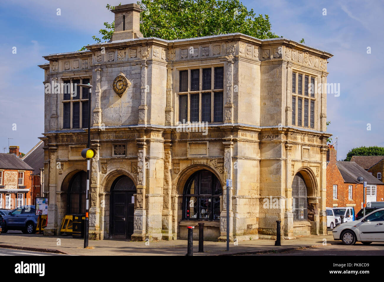 Old Library Market House Building Rothwell Kettering Northamptonshire East Midlands England - Stock Image