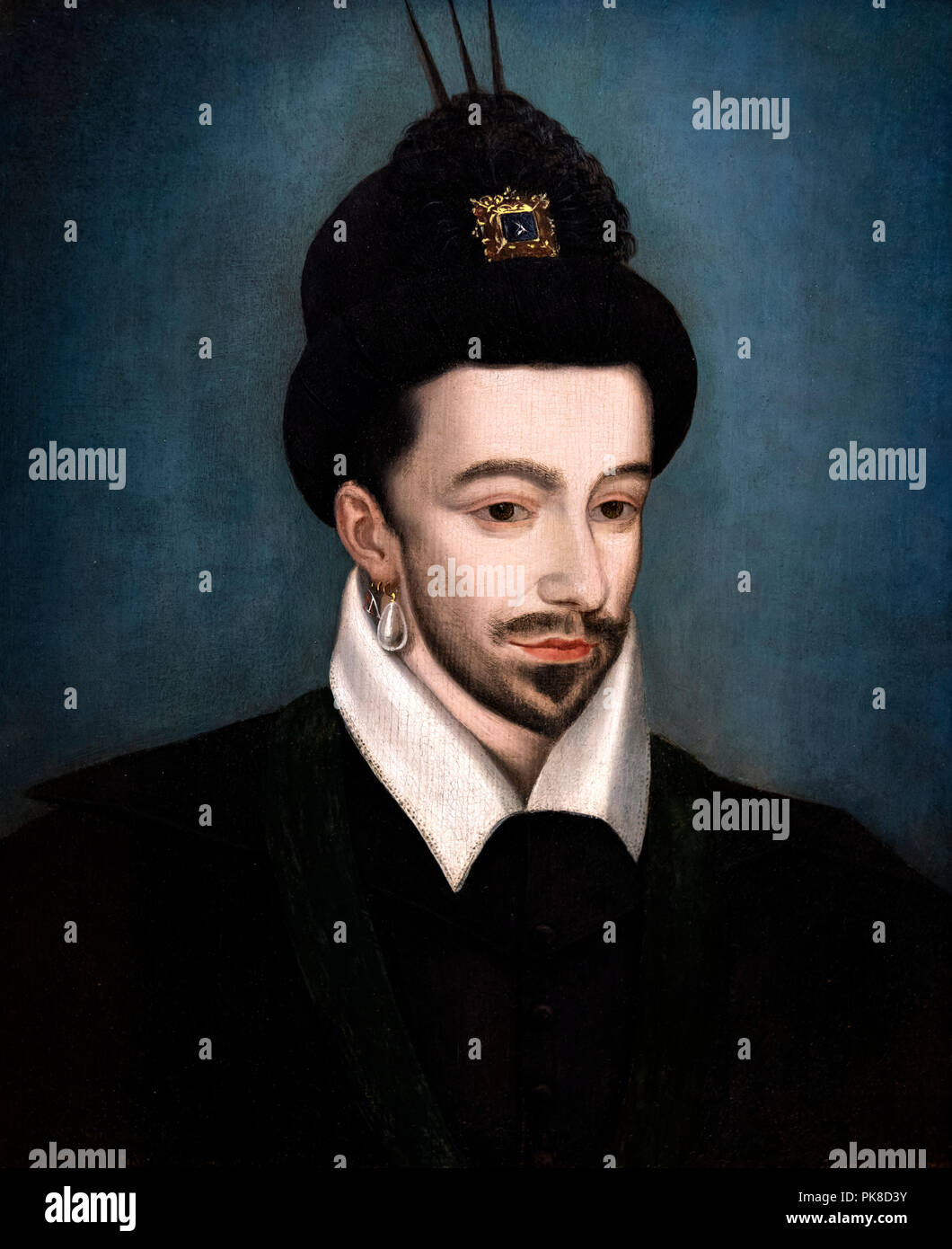 King Henry III of France (1551-1589), anonymous, oil on wood Stock Photo
