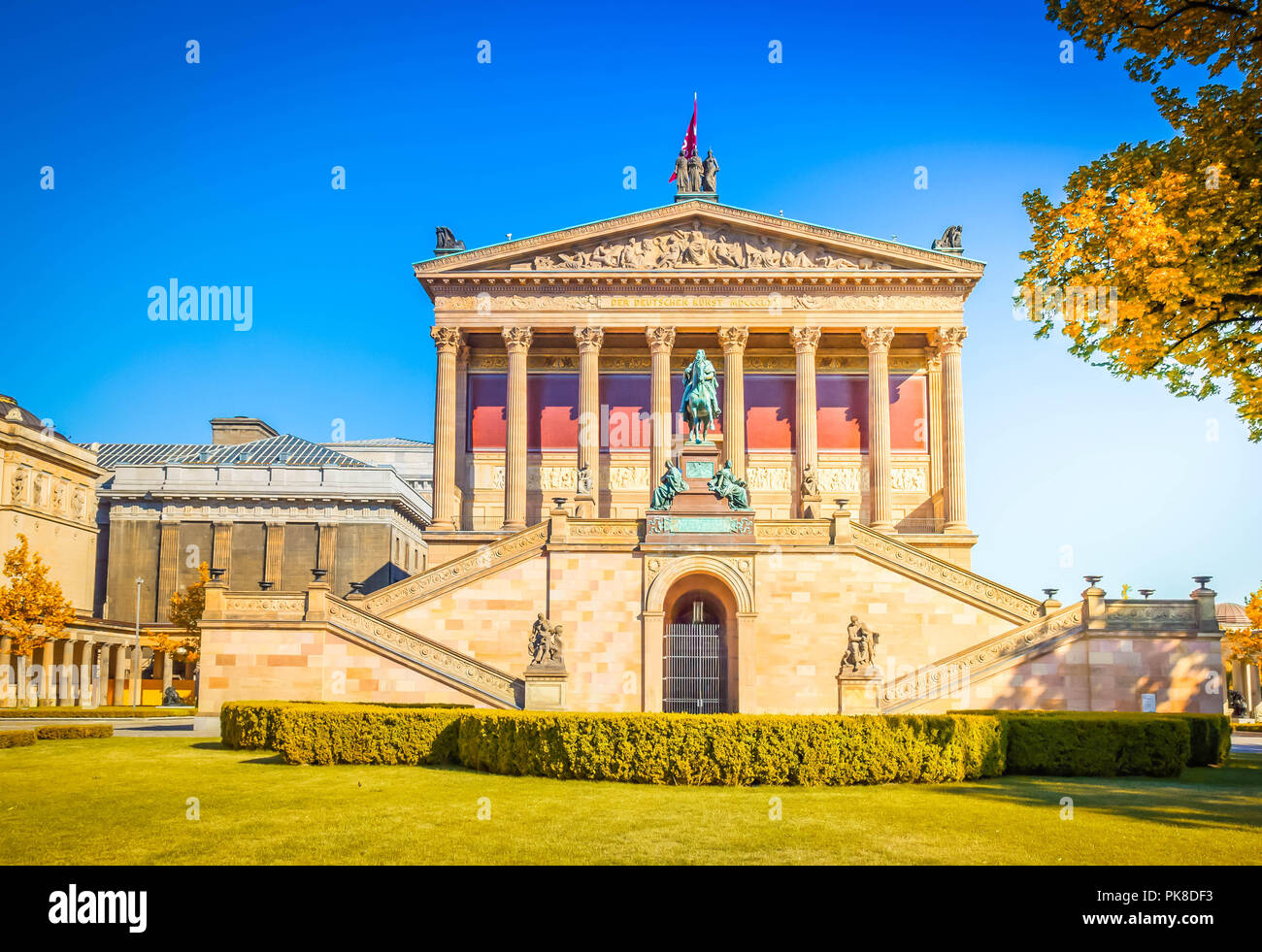 Alte Nationalgalerie at Museumsinsel in Berlin - Stock Image