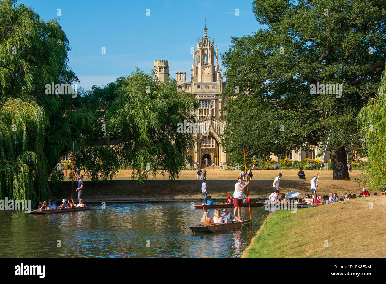 Punting by St John's - Stock Image