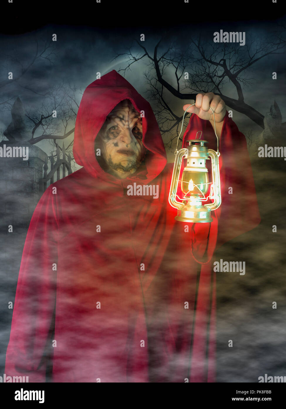 Mask Mens Adults Cult Leader Halloween Occult Fancy Dress Costume Robe