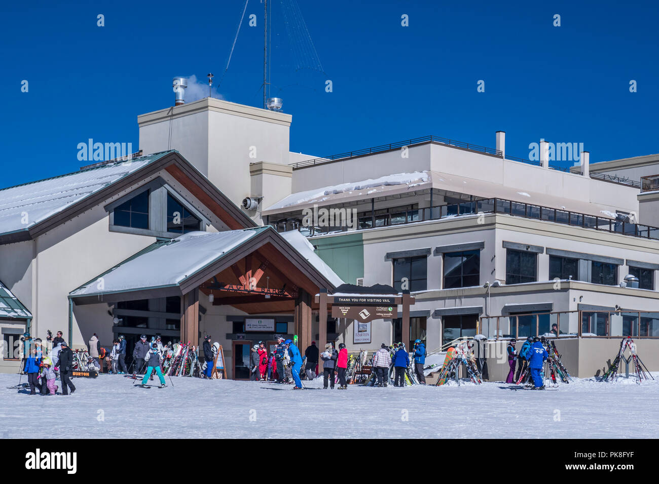 Eagle's Nest, winter, Vail Ski Resort, Vail, Colorado. - Stock Image