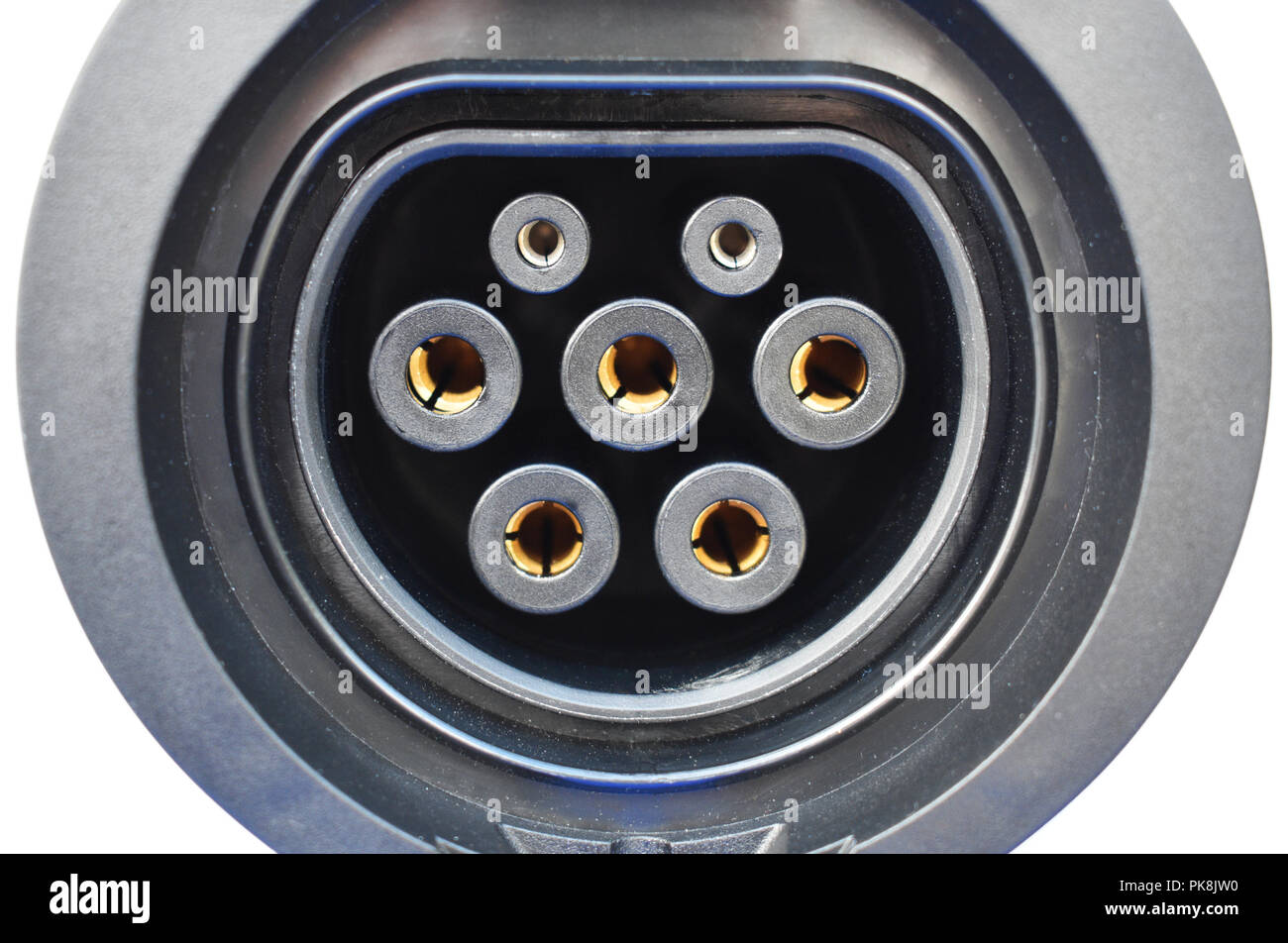 Electric vehicle EV / electric car charging point - Stock Image