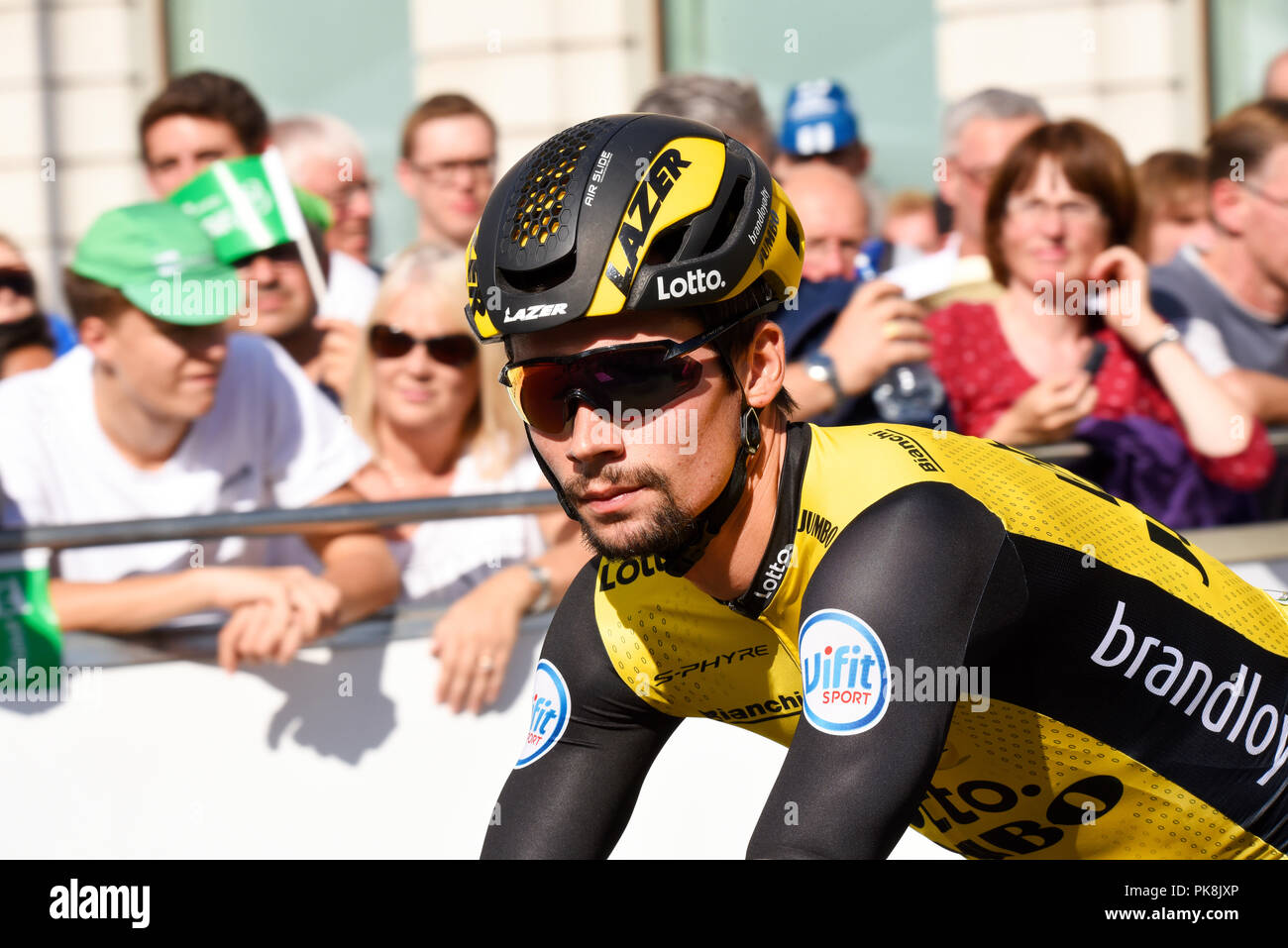 Primoz Roglic of team Lotto NL Jumbo at the OVO Energy Tour of Britain cycle  race a7aa9f18d