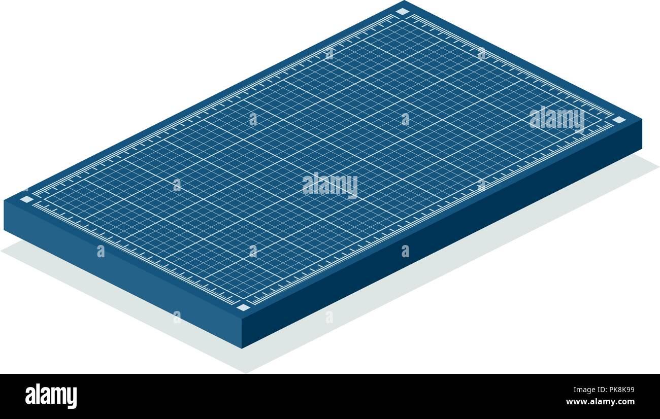 Blueprint isometric background. - Stock Image