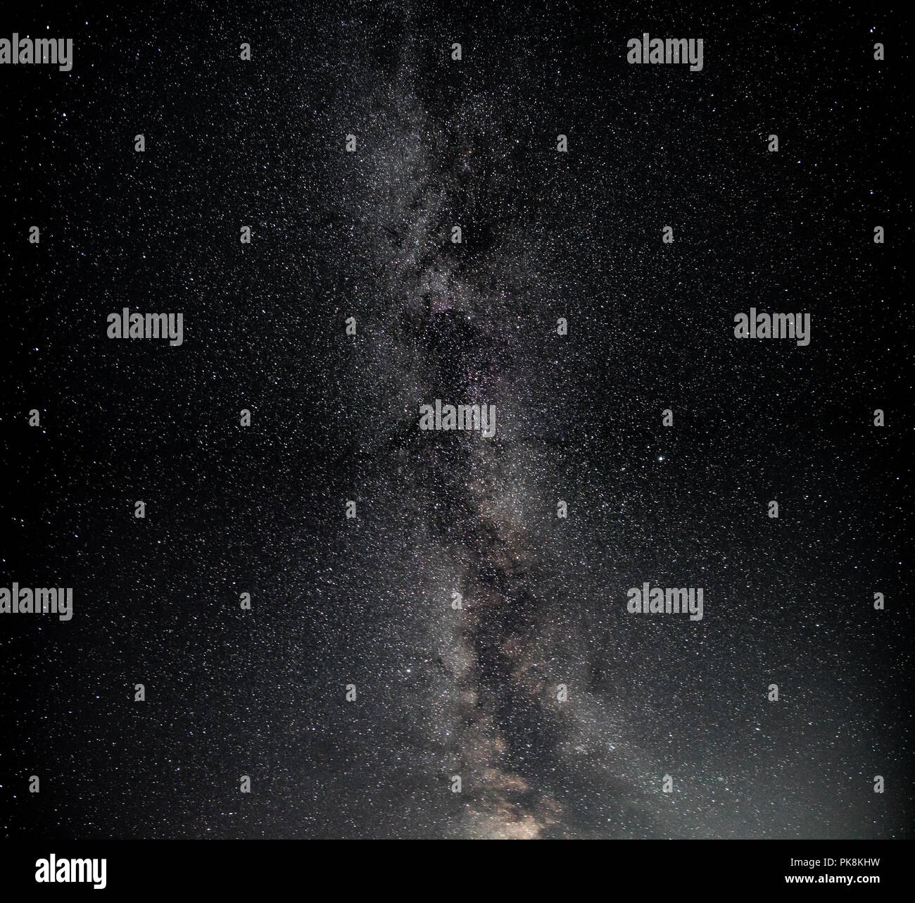 Milky way in the north hemisphere, summer time - Stock Image