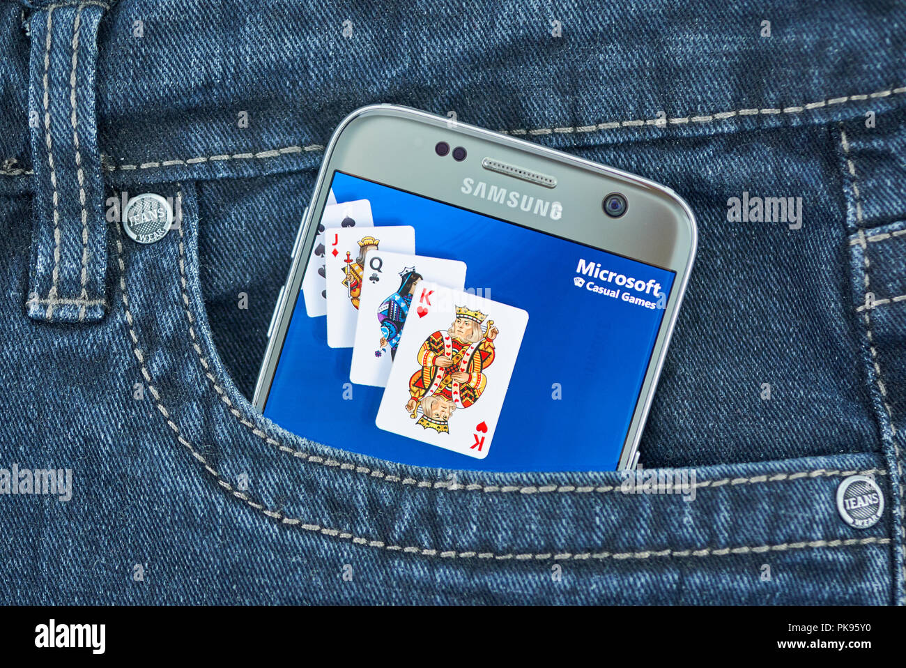 MONTREAL, CANADA - SEPTEMBER 8, 2018: Microsoft Casual Games app on android device. Stock Photo