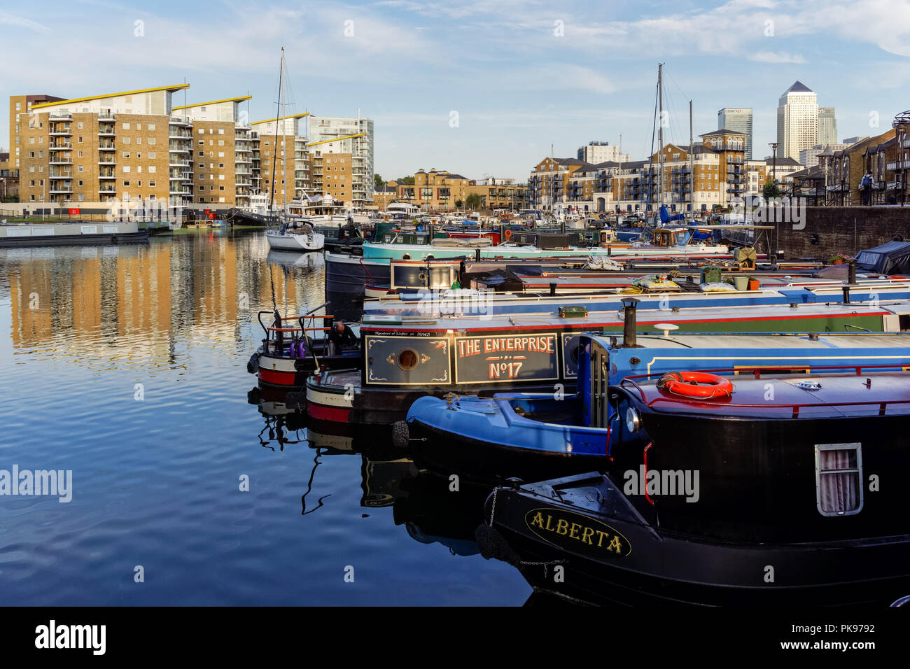 The Limehouse Basin in London, England United Kingdom UK Stock Photo