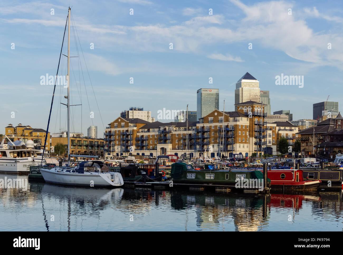 The Limehouse Basin in London, England United Kingdom UK Stock Photo