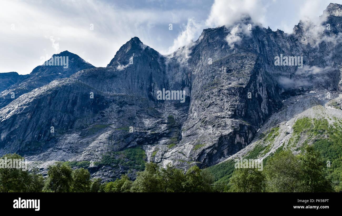 Trollstigen Mountains, Norway - Stock Image