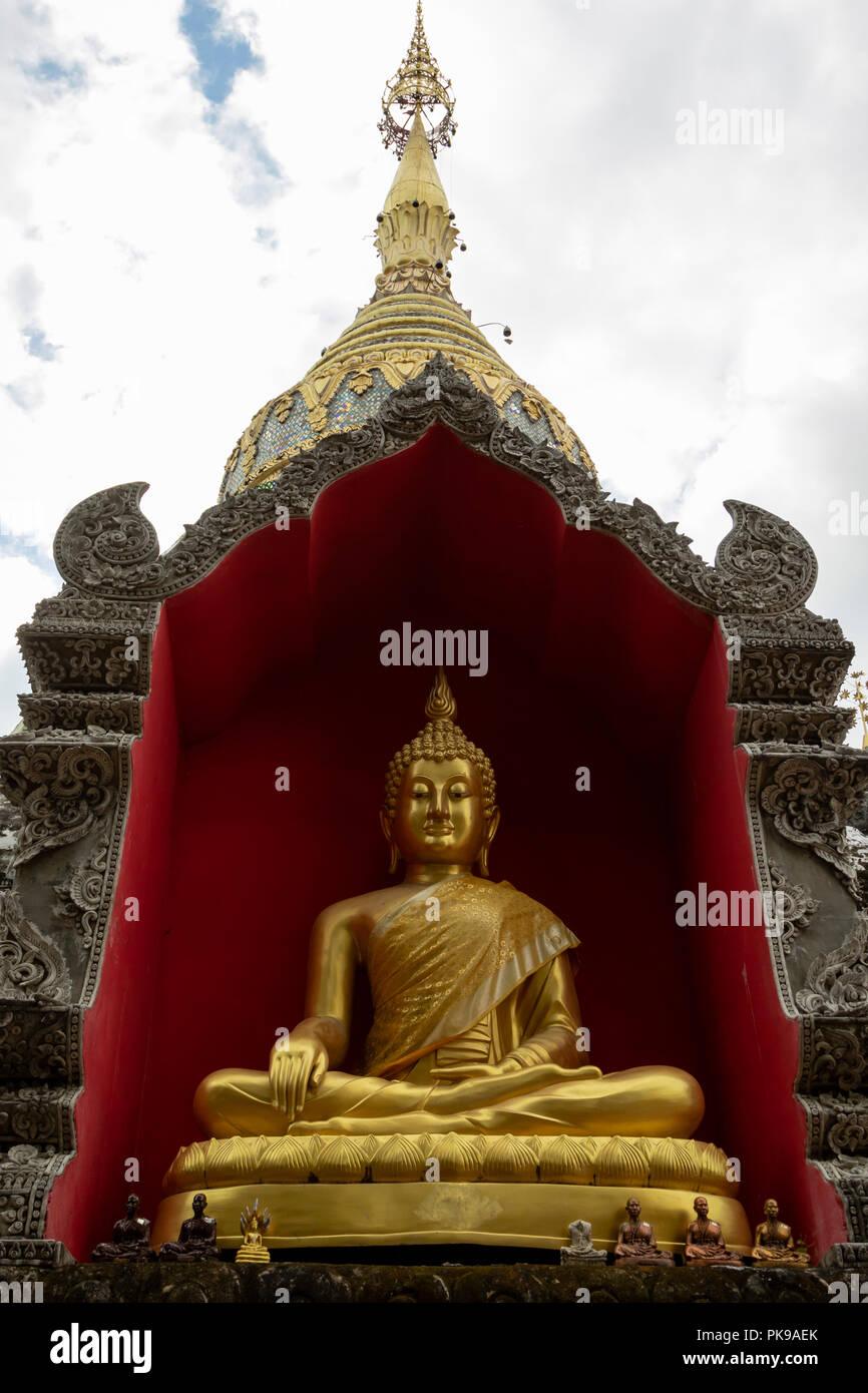 Wat Buppharam temple on Tha Phae Rd Chiang Mai, Thailand Stock Photo