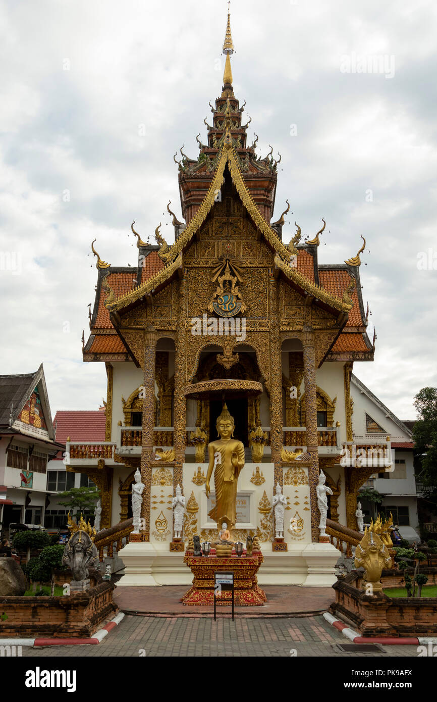 Wat Buppharam temple on Tha Phae Rd Chiang Mai, Thailand Stock Photo