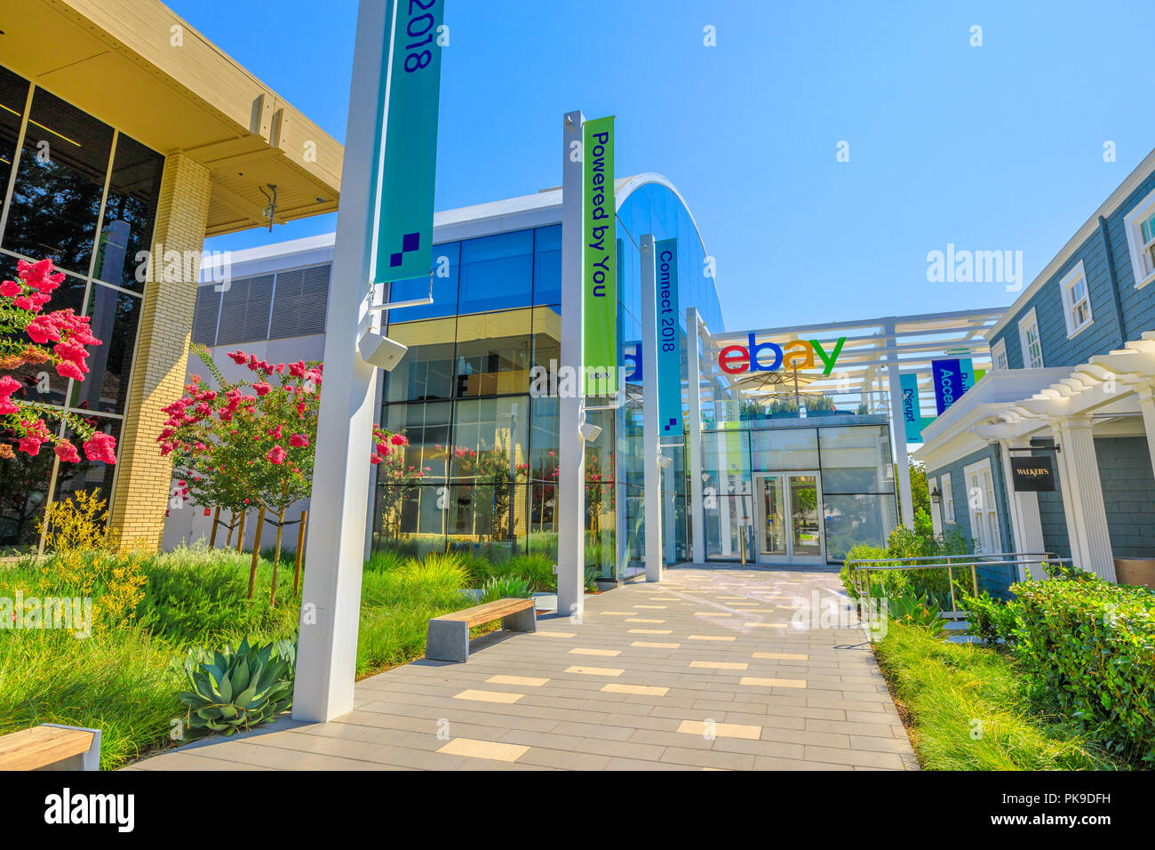 San Jose Ca Usa August 12 2018 Ebaycampus Headquarters In San Jose Of Silicon Valley California Ebay Inc Is The Leader Company In E Commerce With Its Online Marketplace And Virtual Stores