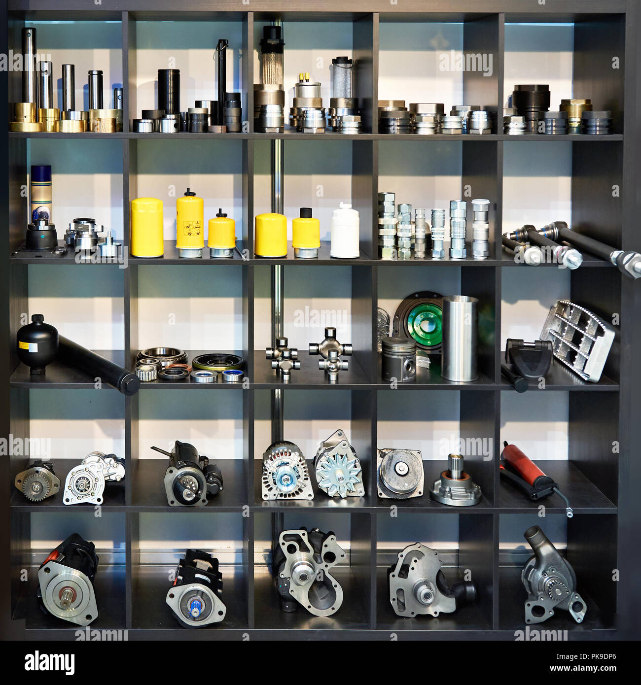 4d2652832fecc8 Spare parts for trucks cars in the shop Stock Photo  218411262 - Alamy