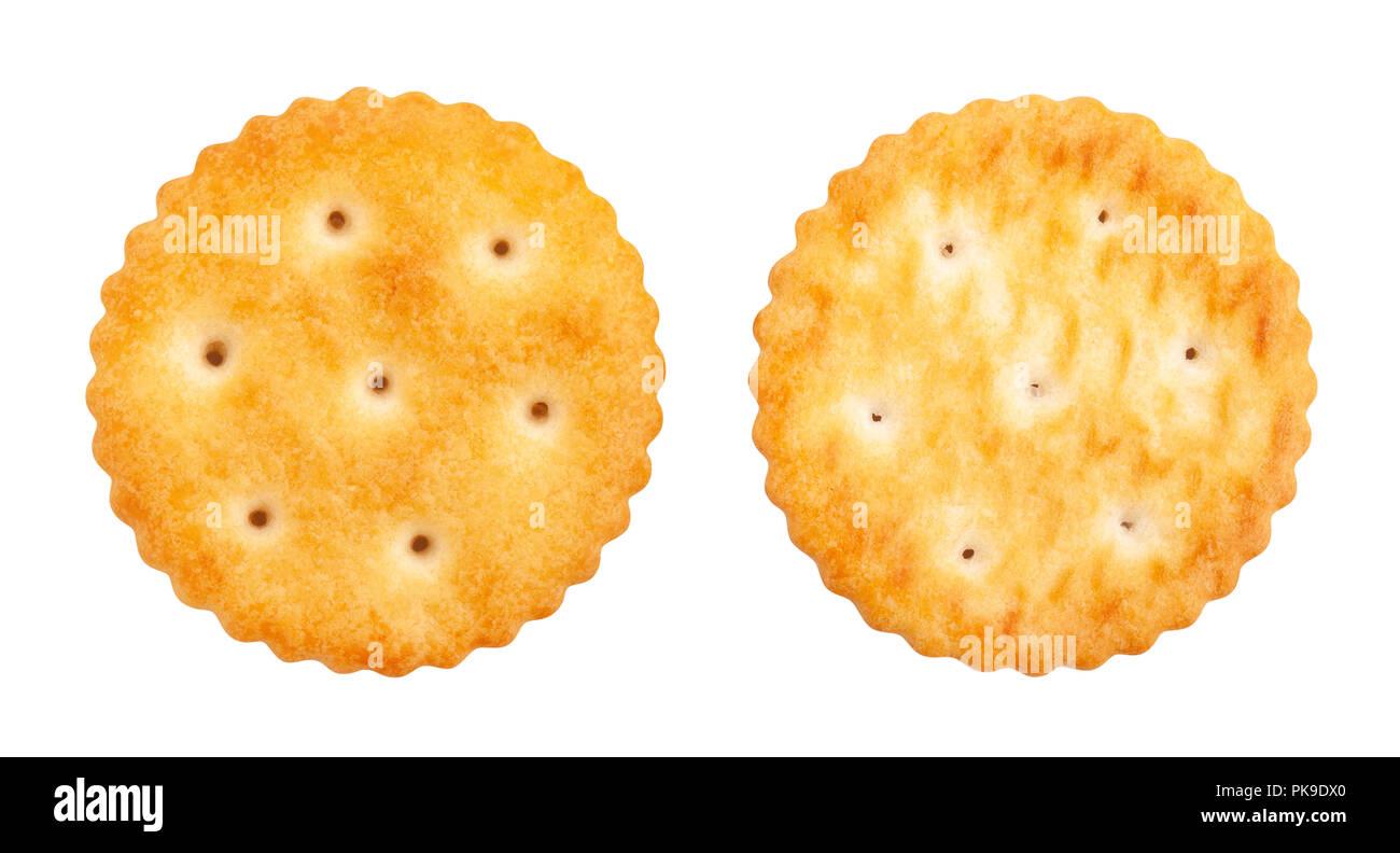 round cracker path isolated - Stock Image