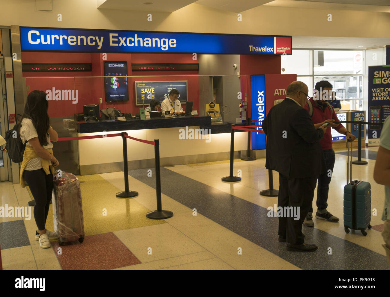 Currency exchange at jfk airport new york city where foreign