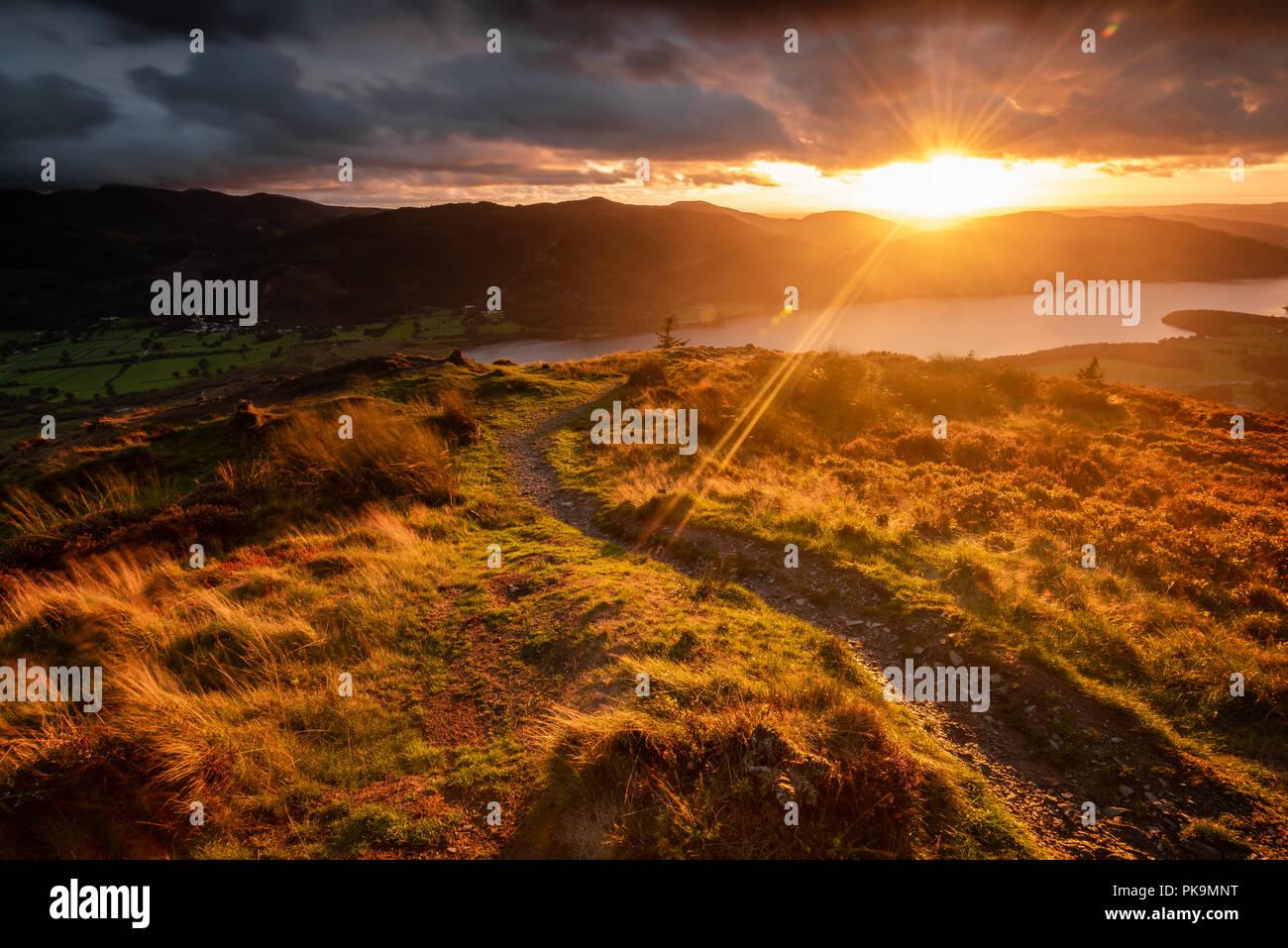 Sunset on Dodd Summit - Stock Image