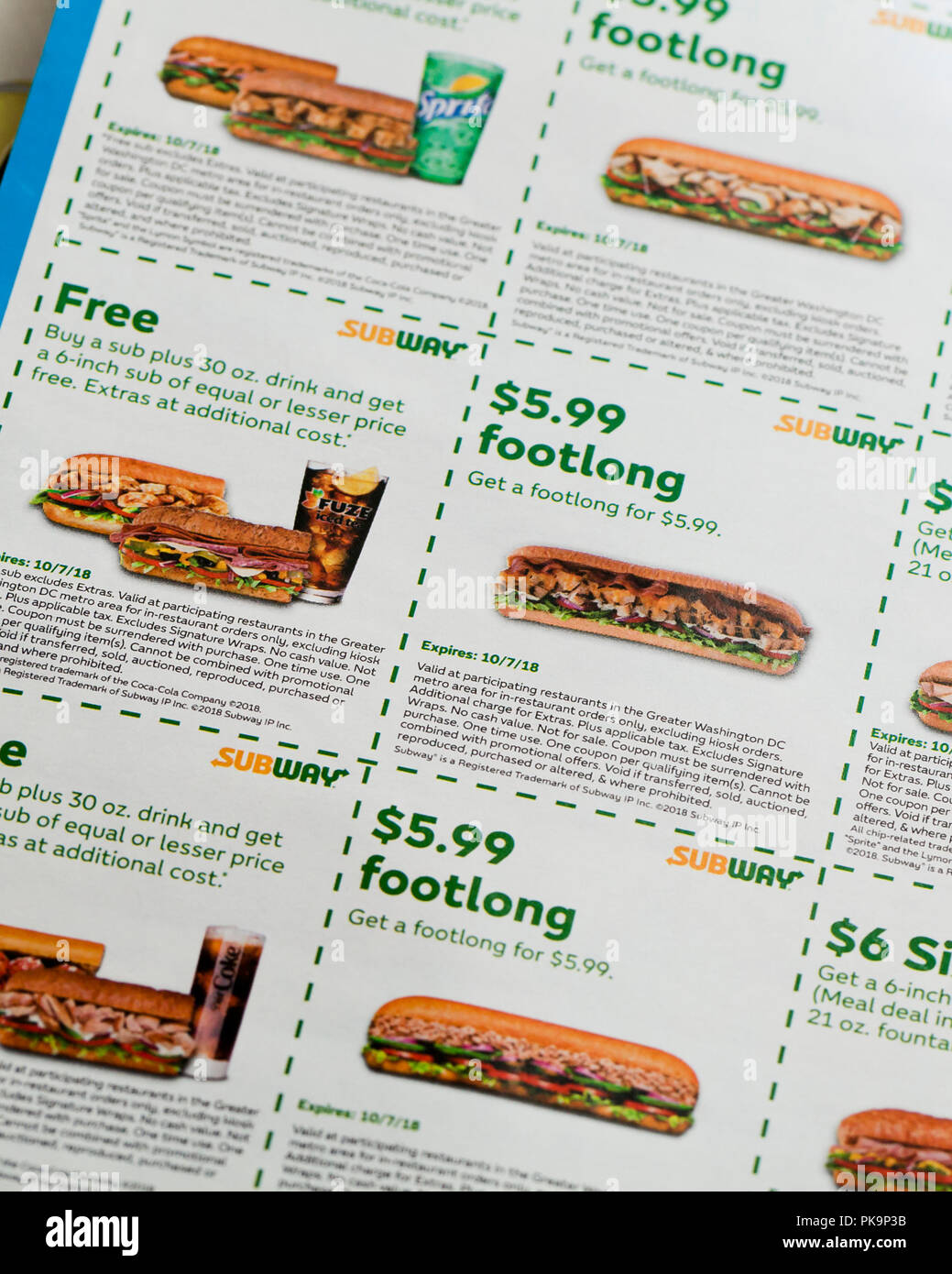 Subway coupons germany