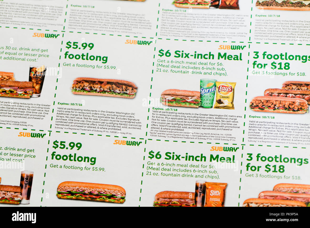 Subway Restaurant High Resolution Stock Photography And Images Alamy