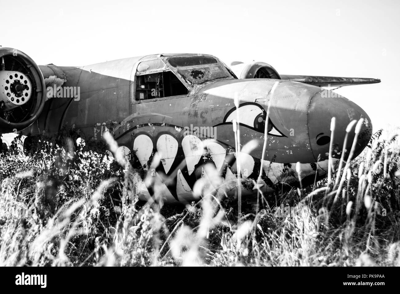 Ww2 Abandoned Plane Stock Photos & Ww2 Abandoned Plane Stock Images