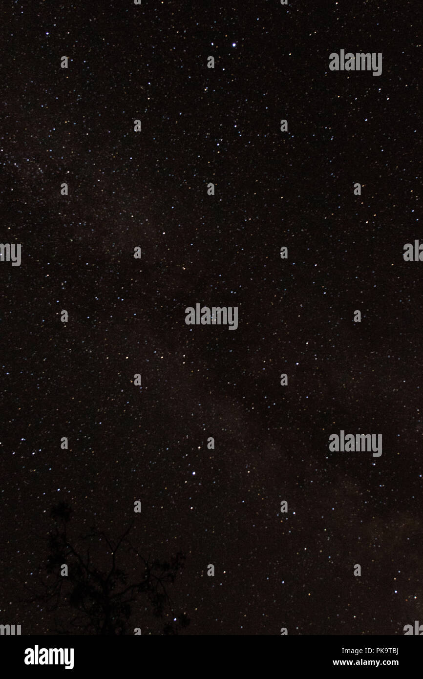 Astrophotography galaxy star background for astronomy, space or cosmos, a night sky universe, interstellar science fiction texture - Stock Image