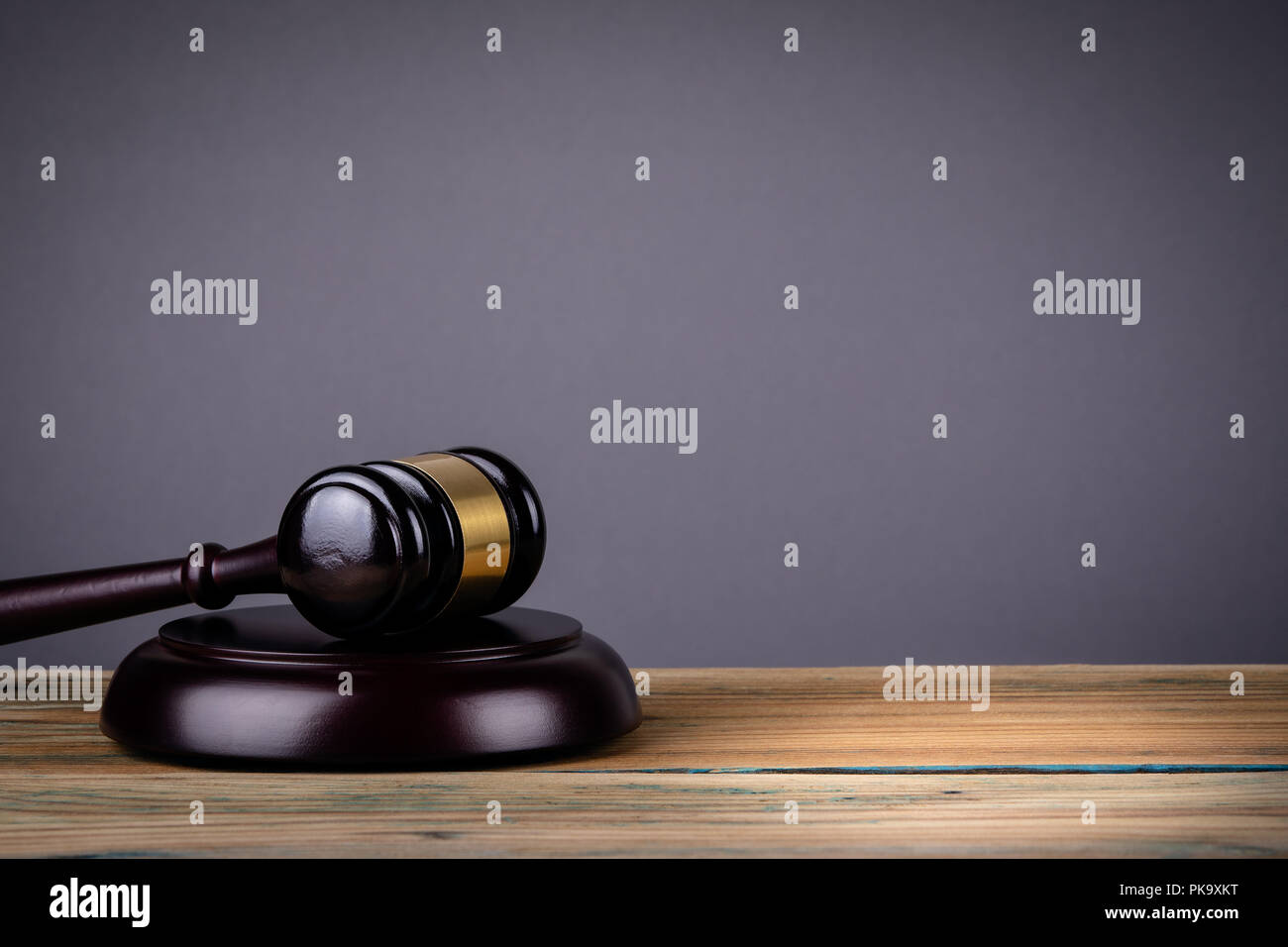 Law and Justice concept with gavel - Stock Image
