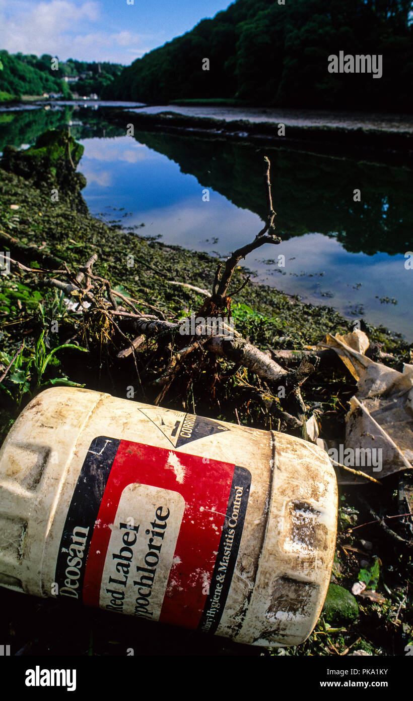 Pesticide/Chemical Polluted River Lee, Cork City, County Cork, Ireland, Europe. - Stock Image