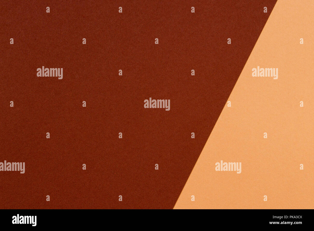 Color papers composition background with beige and brown tones - Stock Image