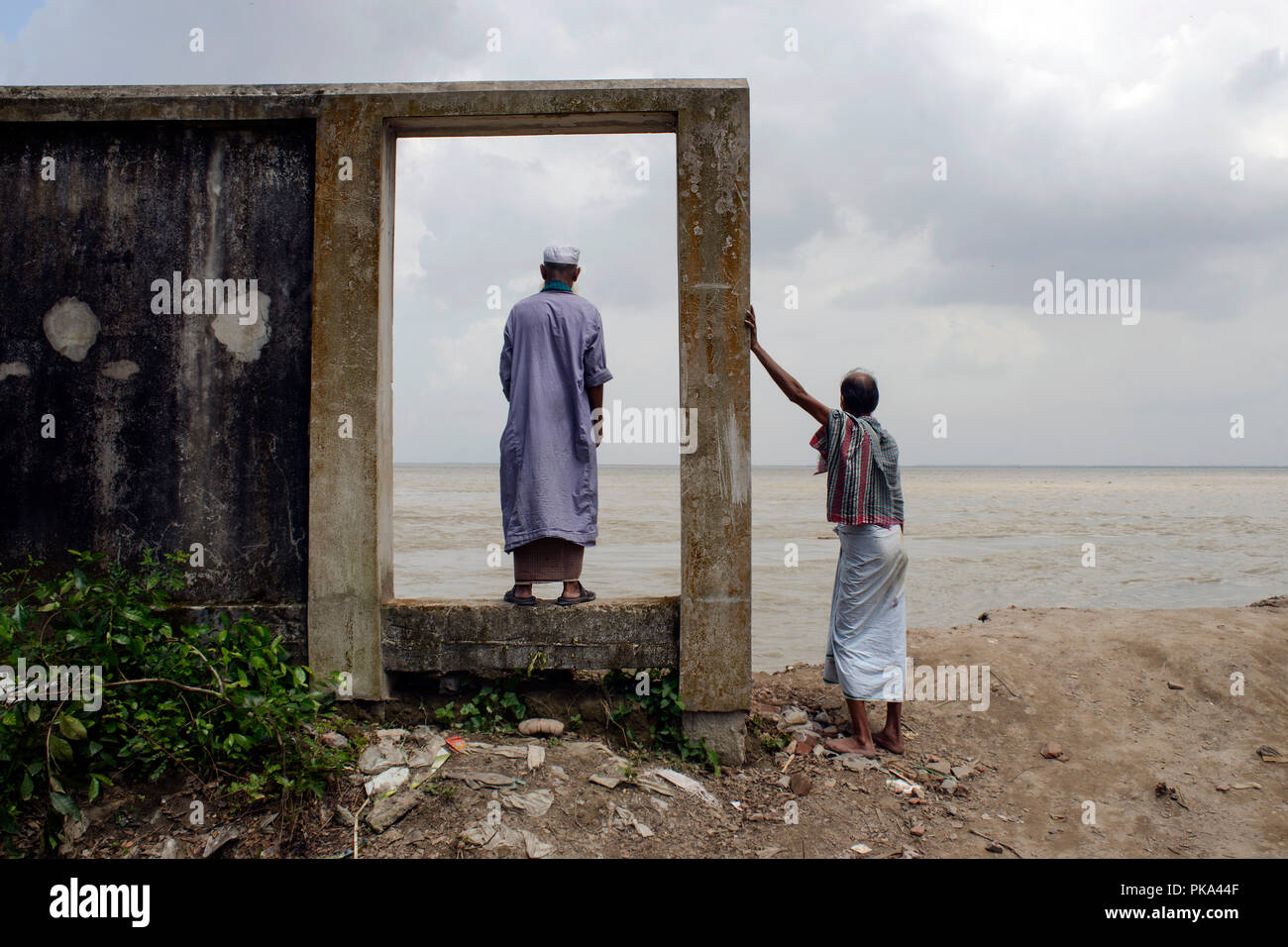 The Terrible Breakdown Of the Padma River in Bangladesh - Stock Image