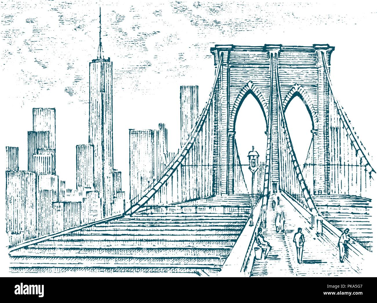 new york brooklyn bridge drawing stock photos  u0026 new york brooklyn bridge drawing stock images