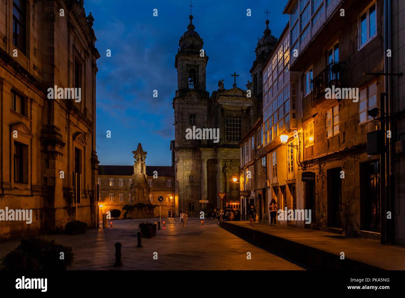 Walking on the route di Santiago di Compostela - Stock Image