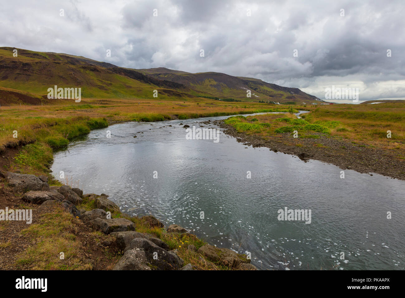 Hringsja, the Suðurland area, Southern Region is a region of Iceland. - Stock Image