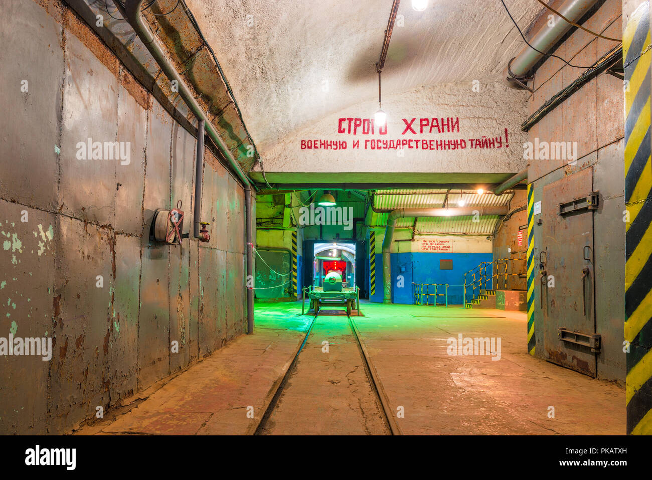 Underground object of fortification destruction, military-historical object, Balaklava, Russia - Stock Image