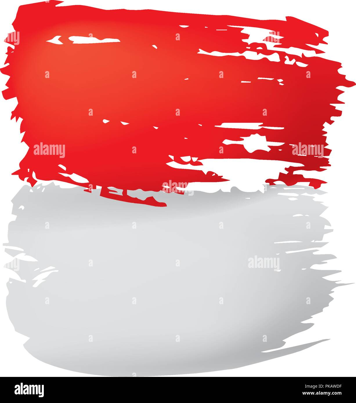 Indonesia Flag, Vector Illustration On A White Background Stock Vector  Image & Art - Alamy