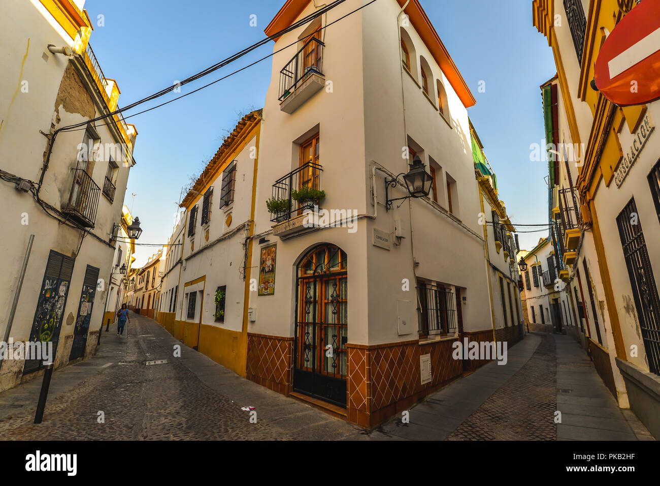 The streets of Cordoba - Andalucia, Spain - Stock Image