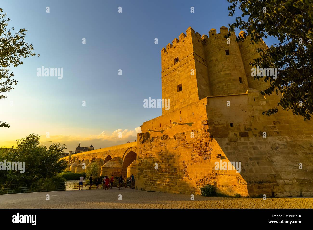 The Roman bridge in Cordoba - Spain Stock Photo
