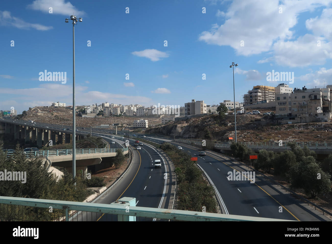 View of residential houses of Beit Hanina a Palestinian