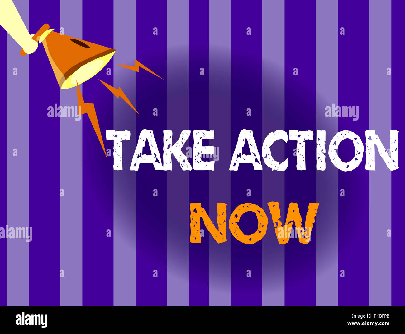 Handwriting text writing Take Action Now  Concept meaning