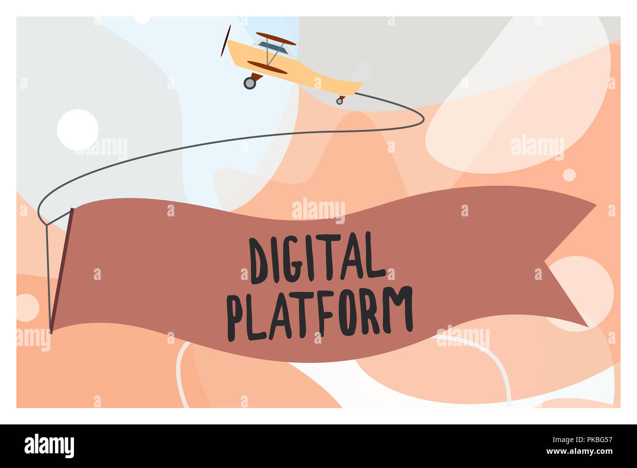 Conceptual hand writing showing Digital Platform. Business photo text marketing campaign or branding new product service. - Stock Image