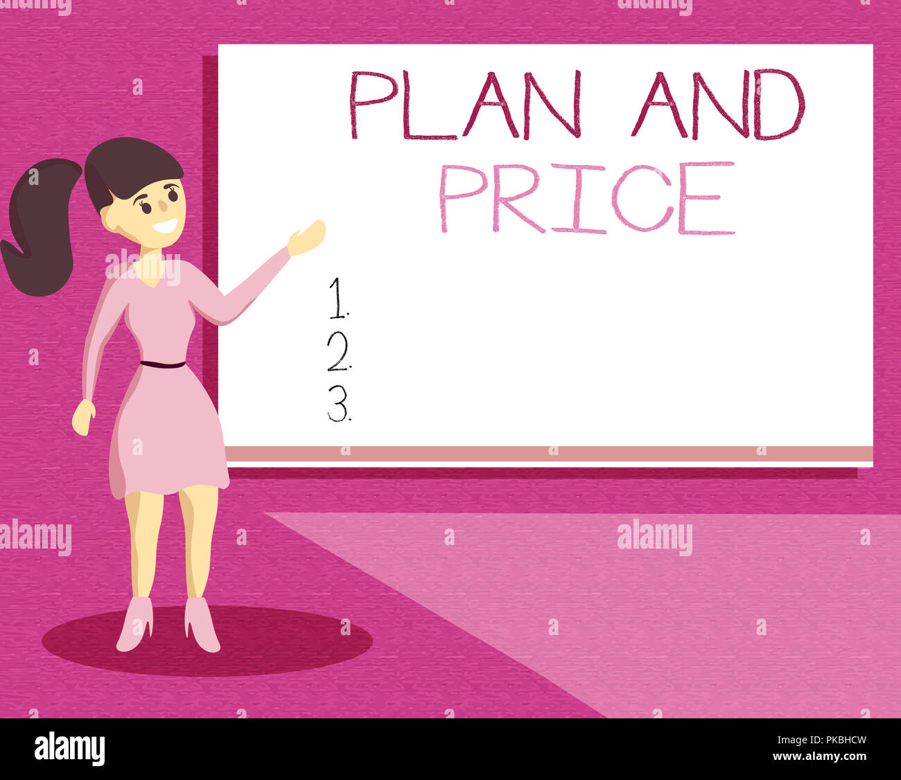 Handwriting text writing Plan And Price  Concept meaning setting