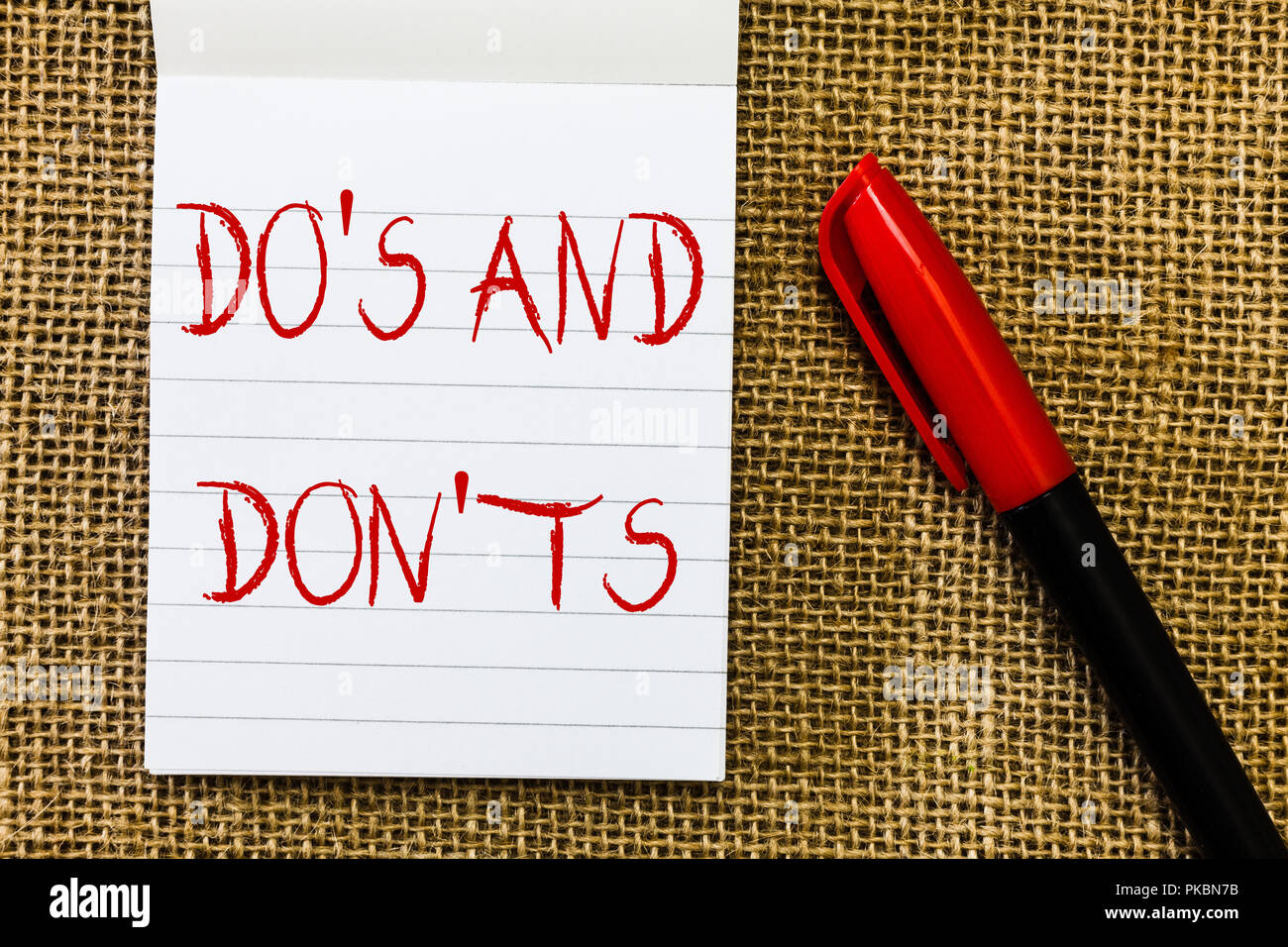 Handwriting text Do s is And Don t nots. Concept meaning Technologically complication of making a decision. - Stock Image