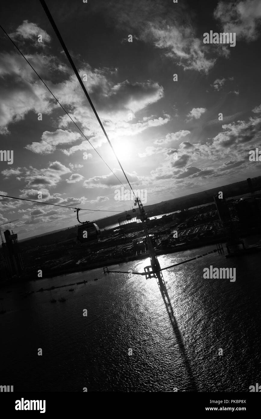 Thames Cable Cars - Stock Image