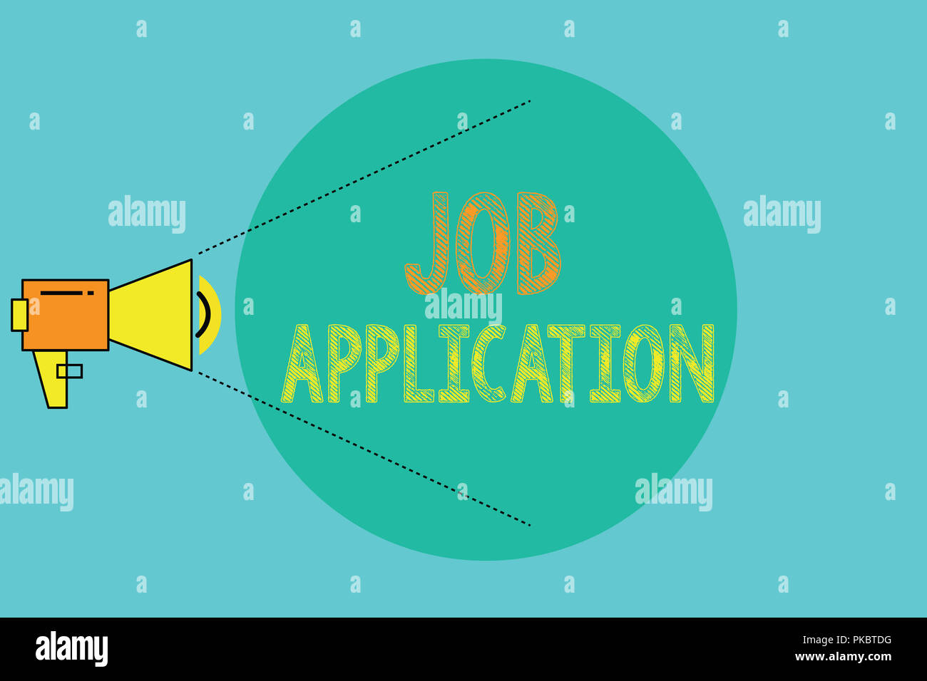 conceptual hand writing showing job application business photo