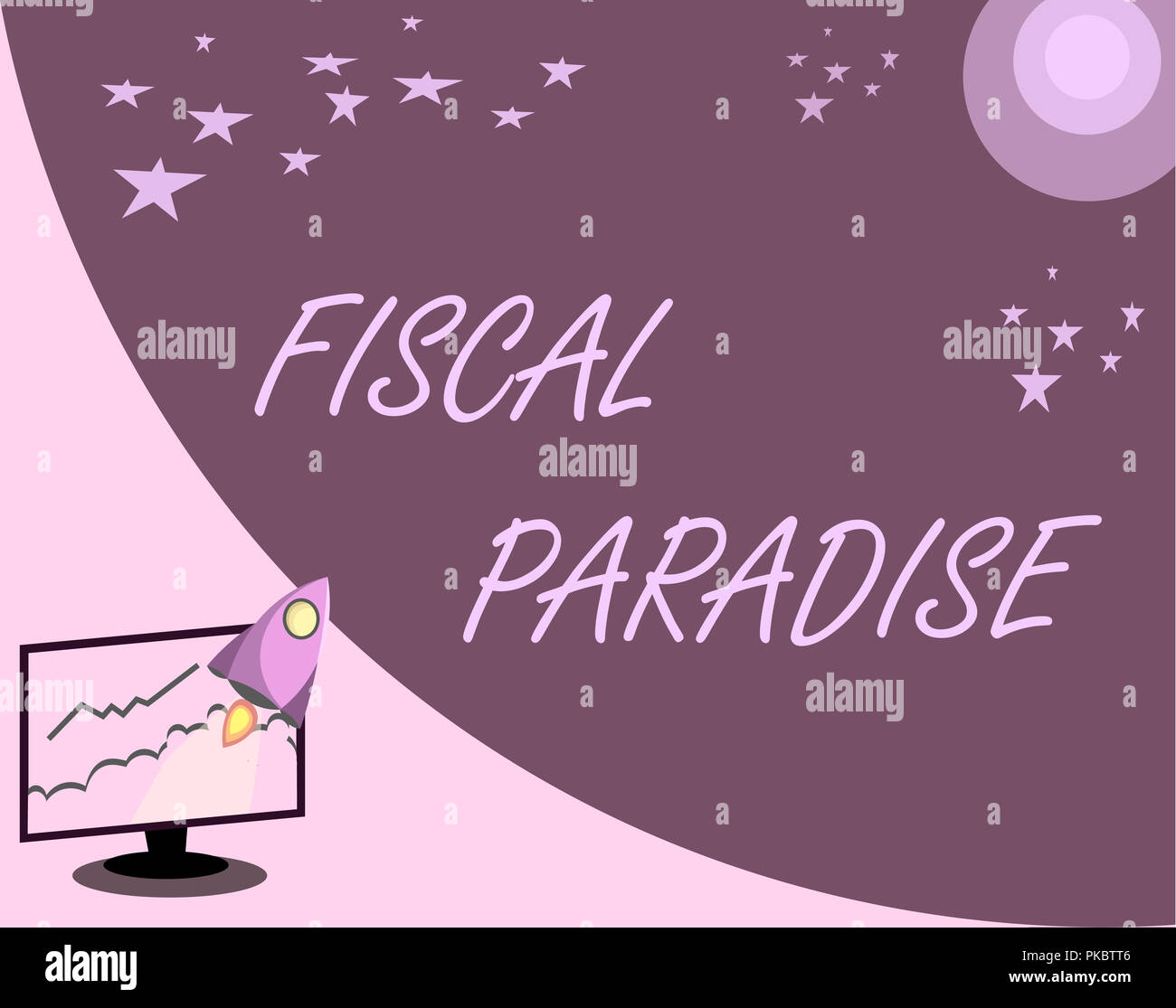 Handwriting text Fiscal Paradise. Concept meaning The waste of public money is a great concern topic. - Stock Image