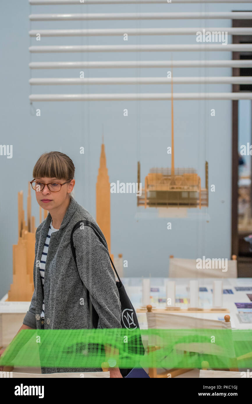 London, UK. 12th Sep, 2018. Models of the New York Times Building - Renzo Piano: The Art of Making Buildings in the Gabrielle Jungels-Winkler Galleries of the Royal Academy of Arts. Piano is an architect and Honorary Royal Academicianand this is the first comprehensive survey of hiss career to be held in London since 1989 - forming part of the 250th anniversary of the Royal Academy. Credit: Guy Bell/Alamy Live News - Stock Image