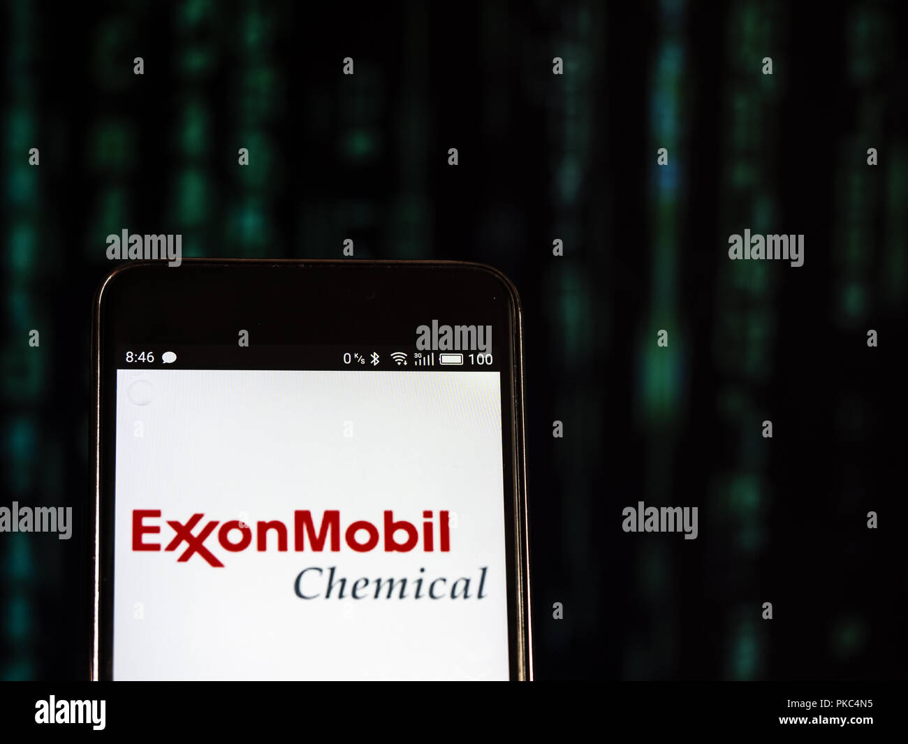 Kiev, Ukraine. 12th Sep, 2018. Exxon Mobil logo seen displayed on a smart phone. Credit: Igor Golovniov/SOPA Images/ZUMA Wire/Alamy Live News - Stock Image