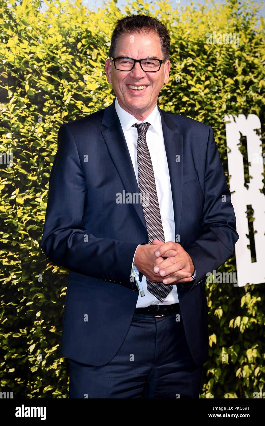 12 September 2018, Berlin: 12 September 2018, Germany, Berlin: Gerd Mueller (CSU), Federal Minister for Economic Cooperation and Development, comes to the summer party 'BILD100'. Photo: Britta Pedersen/dpa-Zentralbild/dpa - Stock Image