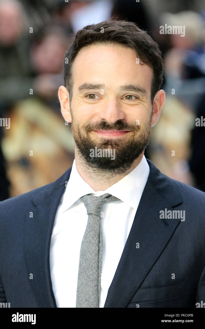 London, UK. 12th Sep 2018. Charlie Cox, King of Thieves - World Premiere, Leicester Square, London, UK, 12 September 2018, Photo by Richard Goldschmidt Credit: Rich Gold/Alamy Live News Stock Photo